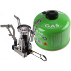 Mini Portable Ultralight Backpacking Stove with 12 Cans Isobutane Fuel