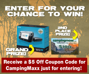 Receive a $5 Off Coupon Code for CampingMaxx just for entering!