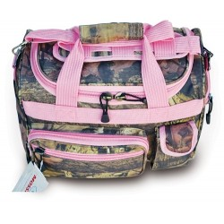 "Ladies' Mossy Oak Infinity Duffel / Carry-On Bag - 13"" - Pink Trim"