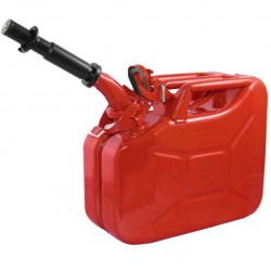 NATO Red Steel 10 Liter Jerry Can w/Spout
