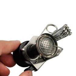 Mini Portable Ultralight Backpacking Canister Camp Stove with Piezo Ignition
