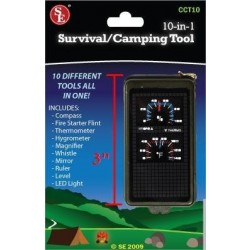 10 in 1 Survival Camping Tool
