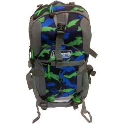 Coleman Kid's Hiking Backpack w/Hydration Compartment & Bladder Gray/Green/Blue/Camo