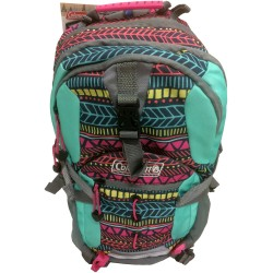 Coleman Kid's Hiking Backpack w/Hydration Compartment & Bladder Gray/Teal/Red/Patterns