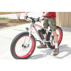 Fat Tire Electric Mountain Bike - red