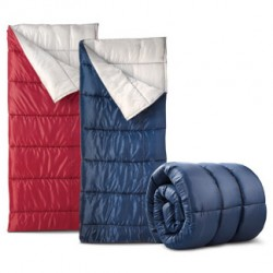 Aldi 40° Sleeping Bag - Red and Blue - Pallet of 96