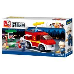 Small Fire Truck + Oil Station (136 pcs)