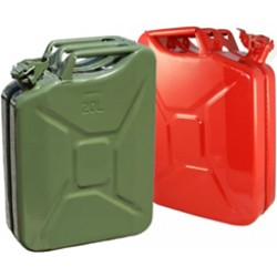 NATO Jerry Gas Can - Red and Green - Pallet of 80