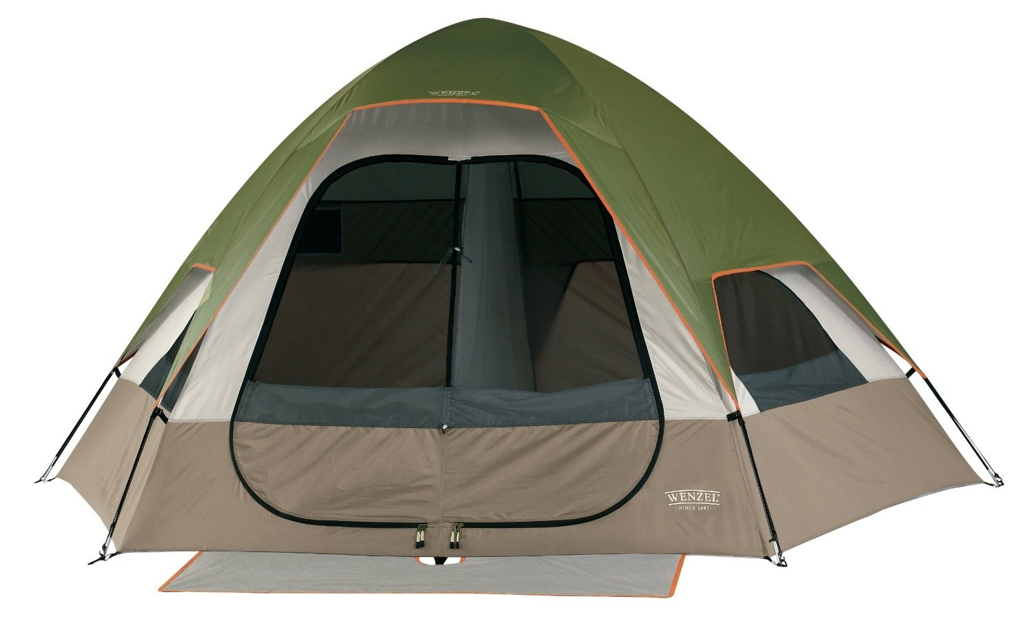 Big Bend 12-by-10 Foot 5-Person 2-Room Family Dome Tent