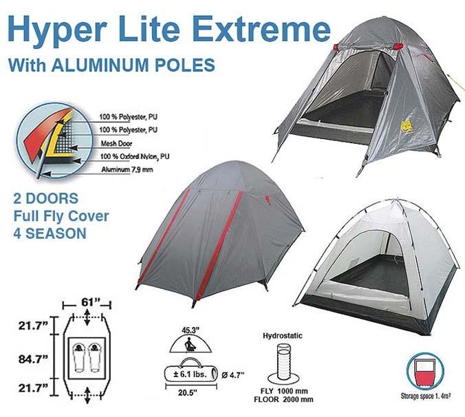 High Peak Hyperlite Extreme 4 Season 2 Person Tent
