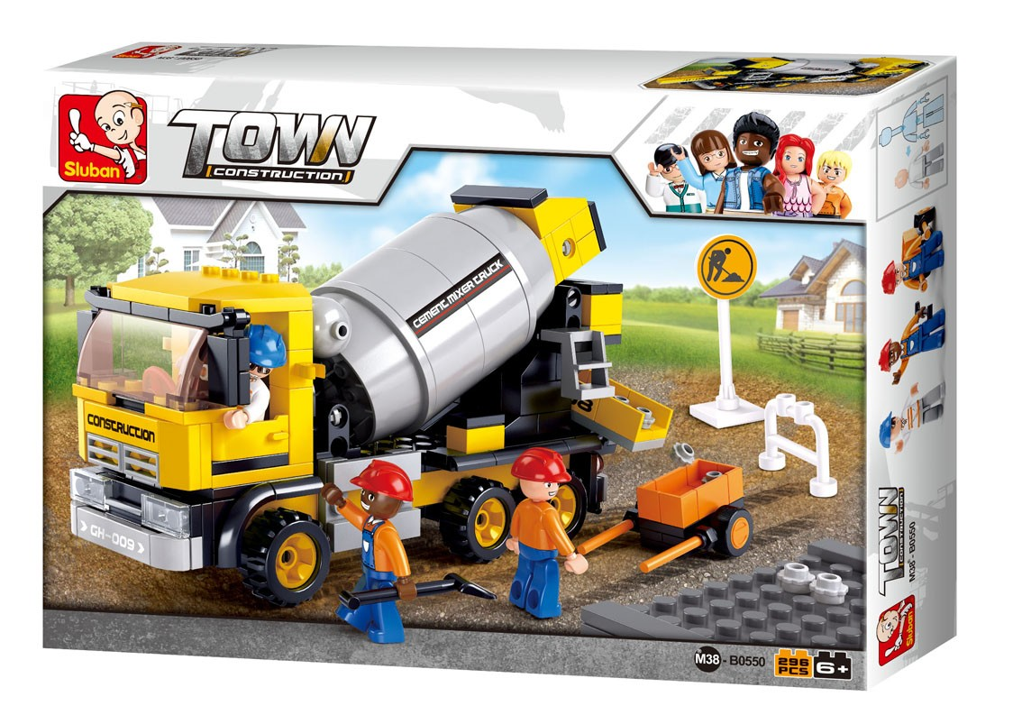 Construction Cement Mixer Truck (296 pcs)