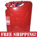 NATO Steel 20 Liter Jerry Gas Can - Red