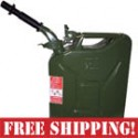 NATO Green Steel Jerry Can w/Spout