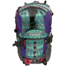 Coleman Kid's Hiking Backpack w/Hydration Compartment & Bladder Gray/Purple/Teal/Teepees