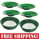 Gold Panning Family Pack - 4 Pans + 2 Sieves  *FREE SHIPPING*