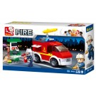 Small Fire Truck + Oil Station (136 pcs)