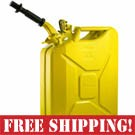 NATO Yellow Steel Jerry Can w/Spout  *FREE SHIPPING*