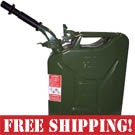 NATO Green Steel Jerry Can w/Spout  *FREE SHIPPING*