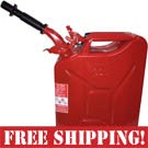 NATO Red Steel Jerry Can w/Spout  *FREE SHIPPING*