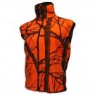 Orange Camo Fleece Vest