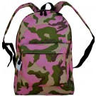 """Pink Camouflage Backpack - 17"""" x 13"""" x 7"""""""
