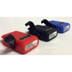 Affinity Hand Crank 5 LED Bright-Light Flashlight, Package of 3, Red/Black/Blue