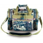 "Mossy Oak Infinity Duffel Bag - 13"" x 9"" x 7"" Carry-On - Khaki Trim (MT14A)"